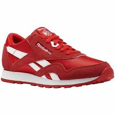 Reebok Classic CN1269 Primal Red White Youth Nylon Suede Retro Sneakers Trainers
