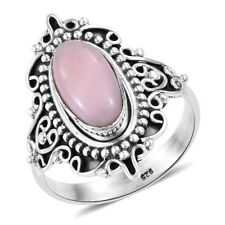 Artisan Crafted Peruvian Pink Opal Sterling Silver Ring  TGW 2.44 cts