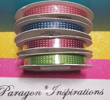 NEW Stampin Up 3/8 SATIN STITCHED RIBBON In Colors You Choose 10 Yards Each