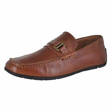Tommy Hilfiger Wiltons Medium Brown Leather Mens Loafers Size 10.5M