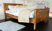 *NODAX*_Sturdy Wooden Pine King Size Bed 5ft Wooden Bed frame&Slats'F16'_COLOURS