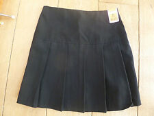MARKS AND SPENCERS NAVY BLUE BLACK PLEATED SUMMER SCHOOL SKIRT 4 9 11 NEW UNWORN
