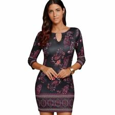 Women New Fashion Three Quarter Sleeve Plus Size Mini Dress R315