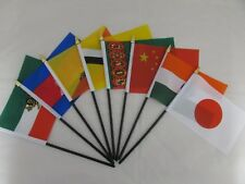 TABLE DESK TOP FLAG ASIAN COUNTRIES Without Base FREE UK POST HUGE CHOICE