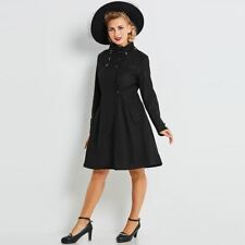 Women Winter Wear Long Sleeve Black Color Double-Breasted Mid-Length Coat S385