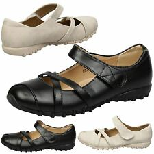 Selena Womens Flats Low Heels Cushioned Insole Mary Janes Ladies Shoes Size New