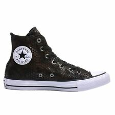 Converse Chuck Taylor All Star  Brown Black Womens Canvas High Top Trainers
