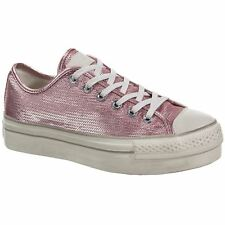 Converse CTAS Platform Distressed Ox Pink Nectar Chateau Grey Womens Trainers
