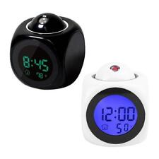 Clock Alarm Talking Digital Voice Led Temperature Lcd Projection Time Display
