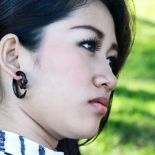 Ethnic Cheater Earrings, Fake Gauge Wood Ear Weights, Faux Gauges Spiral Taper