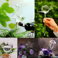 Self Watering Globe Plant Water Bulbs Hand Blown Transparent Glass 5 Shapes