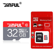 Binful Micro SD Card 16GB 32GB TF Card Class10 SDHC/SDXC High Speed With Adapter