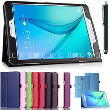 "New Leather folding folio Stand Case Cover For Samsung Tab A/S2 9.7"" E 9.6 Inch"