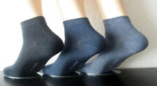 3 Pairs Men's Harmony Trainers Short Sock Socks with Cotton Blue 39 to 46