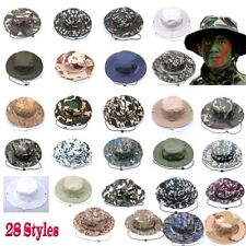 Unisex Camo Military Bucket Hat Boonie Camping Hunting Outdoor Wide Brim Sun Cap