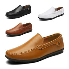 Mens Driving Shoes Flats Loafers Moccasins Leather Casual Slip on shoes big size