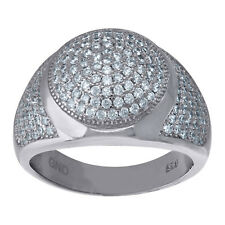 925 Sterling Silver Micro Pave Cubic Zirconia Mens Fashion Ring - 402R5211(36)