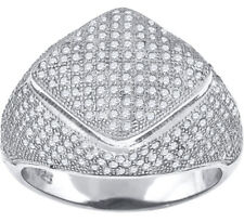 925 Sterling Silver Micro Pave Cubic Zirconia Mens Fashion Ring - 402R10046(35)