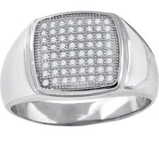 925 Sterling Silver Micro Pave Cubic Zirconia Mens Fashion Ring - 403R3461(36)