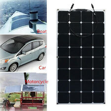 100W Mono Semi Flexible Efficiency Solar Panel Charger Fr RV Boat Battery Charge
