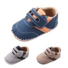 Newborn Baby Boy Cotton Leather Crib Shoes Casual Sneaker Toddler First Walkers