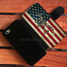 Amrican Flag Wallet iPhone cases Browning Deer camo Samsung Wallet Phone Case