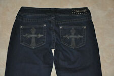 "BNWT Affliction Women's Jade Boot Cut ""Outline Cross"" Jeans 24 26 28 Shirt"