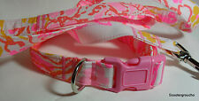 "Lilly Pulitzer "" Happiness Is  Fabric"" Handcrafted Dog Collar& Leash Set *SALE*"