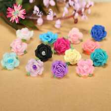 15pc/lot 17mm 3d Beautiful Polymer Clay Fimo 3d Acrylic Rose Flower Beads Fit Br