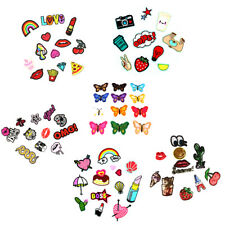 Lots Embroidery Heart Lips Sew Iron On Applique Patch Badge For Clothes Bag DIY