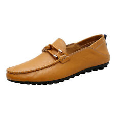 Mens Fashion Driving Shoes Loafers Shoes Flats Leather Casual Slip on Moccasins