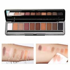 10 Color Eye Shadow Makeup Shimmer Matte Palette Pigment Cosmetics With Brush QK