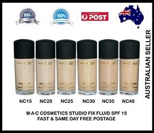 MAC Studio Fix Fluid Foundation 100% Authentic Boxed 30 ml - Choose Any One