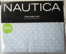 Nautica Twin Sheet Set Blue with White Polka Dots Bedding