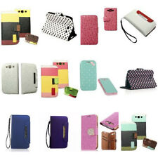 Faux Leather Polished Cover Case Pouch For Samsung Galaxy S3 S III i9300