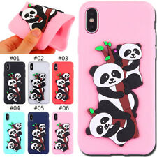Cute 3D Silicone Rubber TPU Soft Skin Case Back Panda Cover For Apple iPhone X