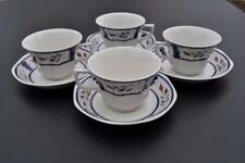 ADAMS England Ironstone LANCASTER Pattern 4 Cup & Saucer Sets . ALL PERFECT!