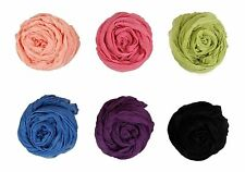 BMC Womens Fancy Crinkle Shawl Scarf Fashion Cotton Scarves Mixed Solid Color..