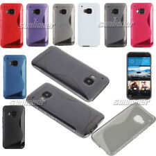 For HTC One M9 Gel TPU S-line Case Skin Cover