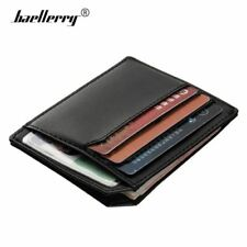 Men's Ultra Slim Leather Wallet Coin Pocket Wallets Credit Card Holder