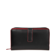 Lodis Audrey Deluxe Checkbook Clutch - Black // Red