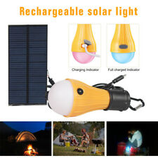 Portable Solar Powered LED Tent Light Bulb Outdoor Camping Emergency Lamp