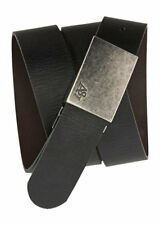 aeropostale mens reversible leather plaque belt
