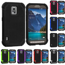 Hybrid Rugged Shockproof Case + Tempered Glass for Samsung GALAXY S6 S5 Note 3