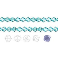 24 Preciosa Czech Crystal Faceted Bicone Beads 6mm