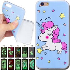 Luminous Fluorescence Rubber Silicone Soft Skin Cover TPU Back Case For iPhone