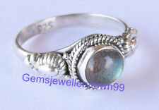 925 Sterling Silver Gray Blue Labradorite Ring Gemstone Ring All Size R27LB