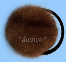 NEW MENS GENUINE RANCHED MINK FUR EARMUFFS one size fits all