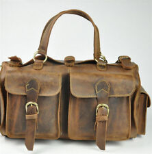 Men's Vintage Handmade Genuine Leather Satchel Handbag Shoulder Messenger bag