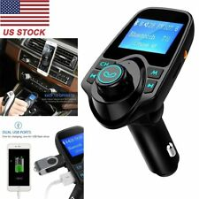 Bluetooth Car FM Transmitter Radio AUX Adapter Kit 1.44 Inch Display USB Charger